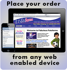 Order Fotoforms from any browser compatible device