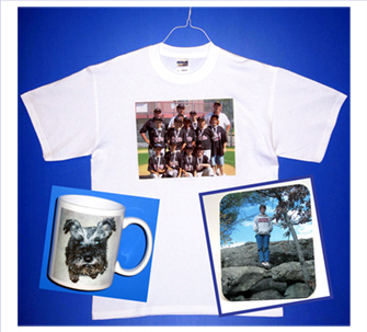 Photo T shirts, Photo Mugs, Photo Mousepads