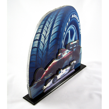 3-d photo figures, 3-D photo, 3-dimensional photo sculpture, acrylic cutouts, acrylic display