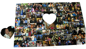 Custom Puzzle with Heart Shaped Piece