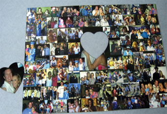 Fotoforms Custom Wedding Proposal Collage, customized photo puzzle, creative marriage proposal, collage print, 80 photos puzzle, large puzzle, heart shaped puzzle piece, standard shaped puzzle