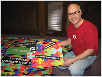 Huge Corporate Team Building Puzzle for Delta Dental