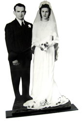Cutout of bride and groom, cut out, cut outs, cutout, cut-outs, cutouts